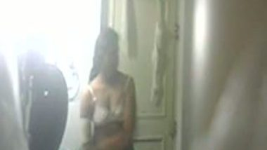 South Indian aunt Seema captured nude using hidden cam in bathroom