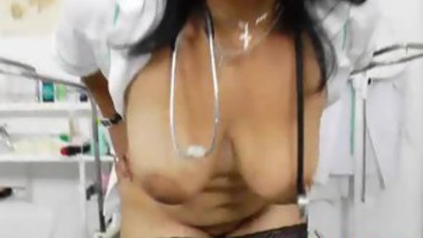 Naughty Nurse Loves To Play With Her Pussy