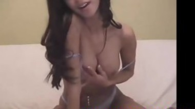 gorgeous brunette teasing on webcam