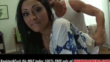 Huge tits Indian MILF gets a big load on her ass!
