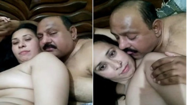Paki man films naked XXX wife before their chudai in bedroom begins